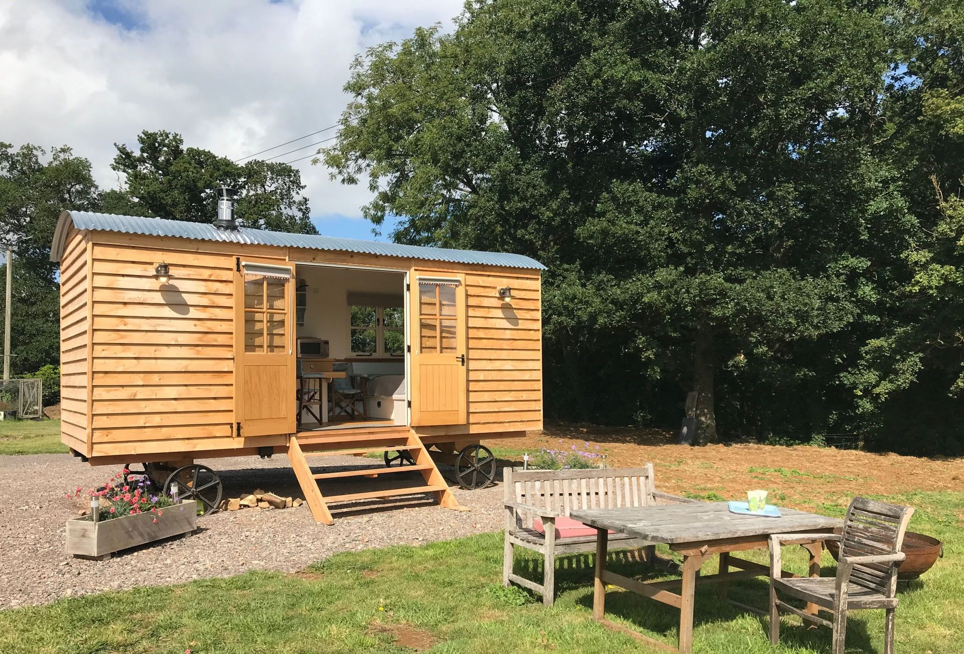 Click here for more about Blossom the shepherd's hut